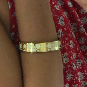 Coach Jewelry - Coach Gold & White Bracelet